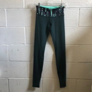 Lululemon dark green Wunder under legging sz 4